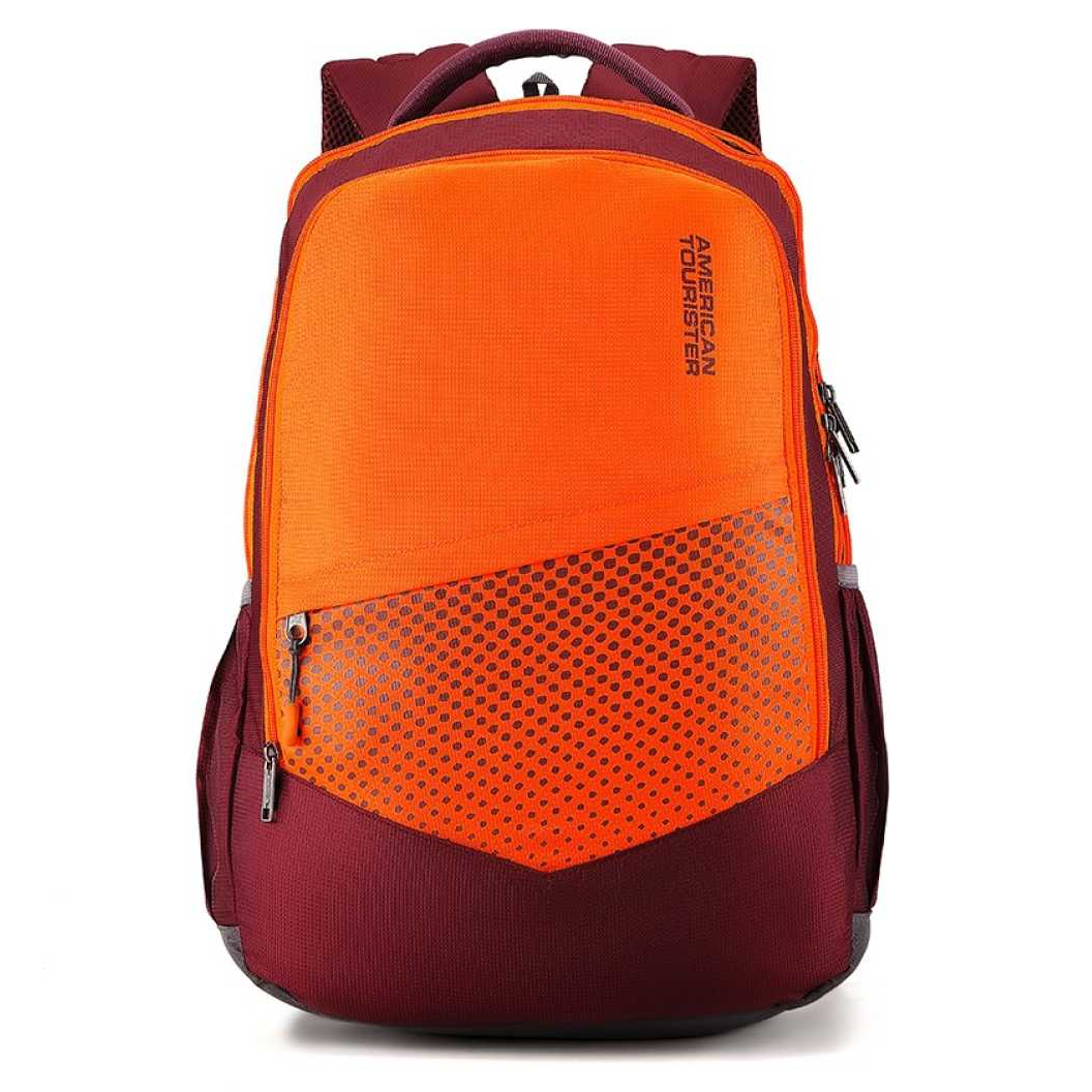 Mist Sch Bag 29.5 L Backpack  (Maroon, Orange)