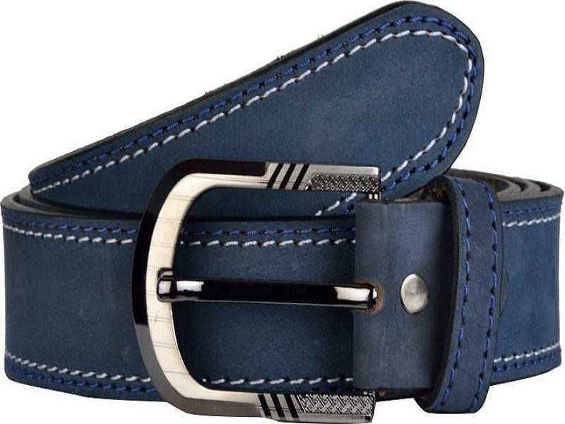 Men Casual Blue Genuine Leather Belt