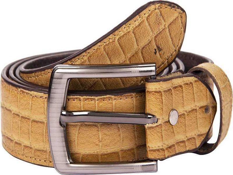 Men Casual Gold Genuine Leather Belt