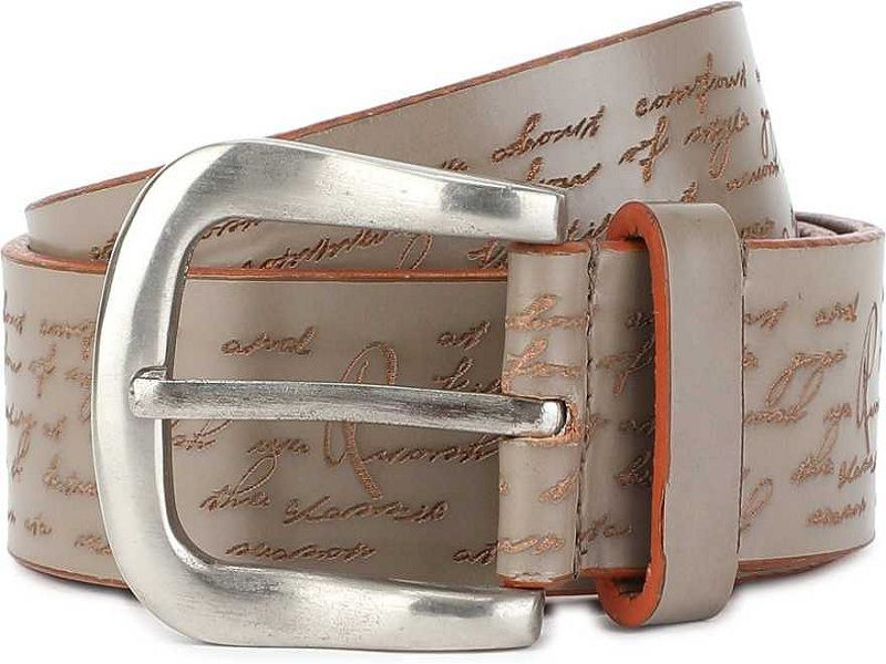 Men Grey Genuine Leather Belt