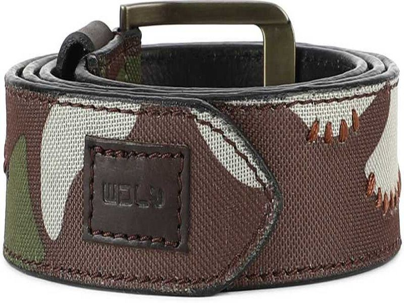 Men Casual Multicolor Genuine Leather, Canvas Belt