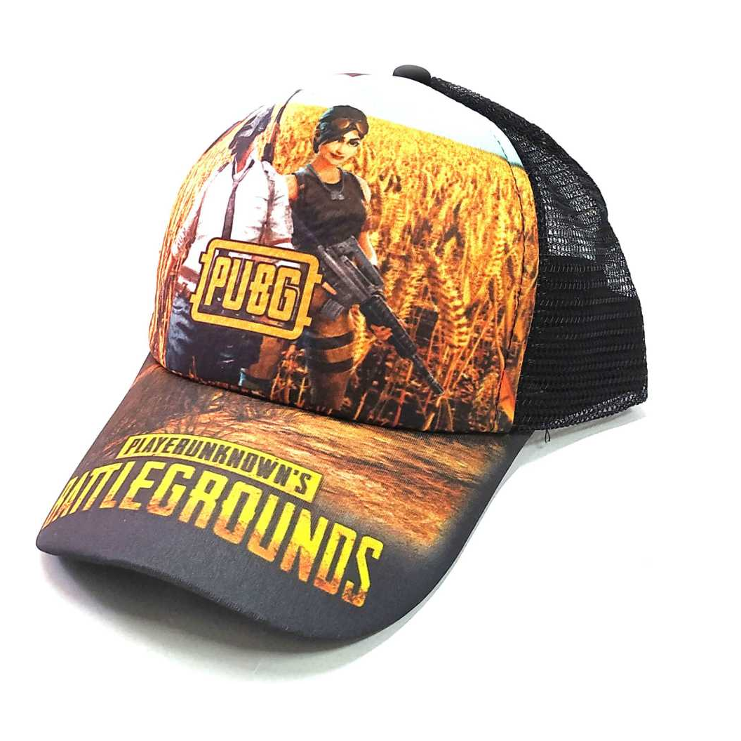 Printed FIRE, NETTED, PUBG Cap
