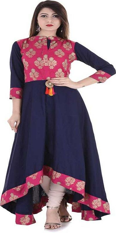 Festive & Party Printed Women Kurti  (Pink)