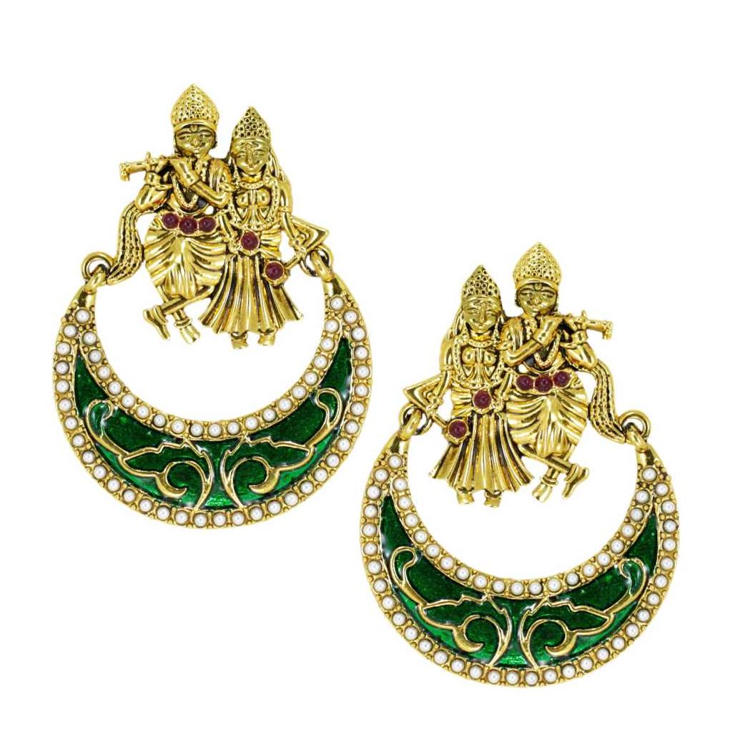 Beautiful Zinc Chandbali Earring