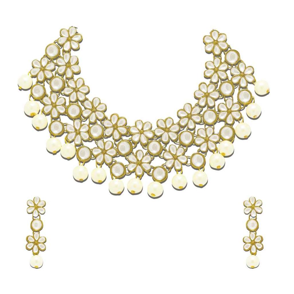 Zinc Jewel Set  (Gold, White)