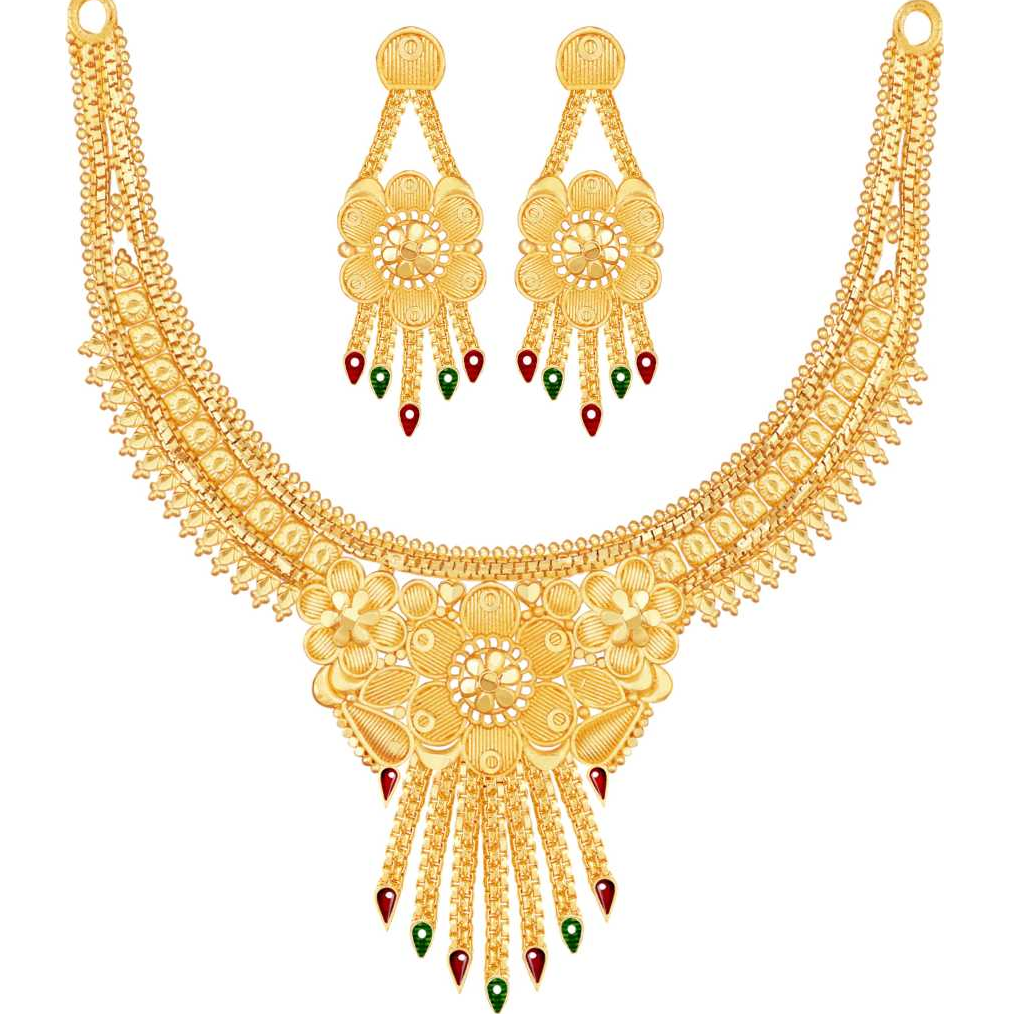 Alloy Jewel Set  (Multicolor)