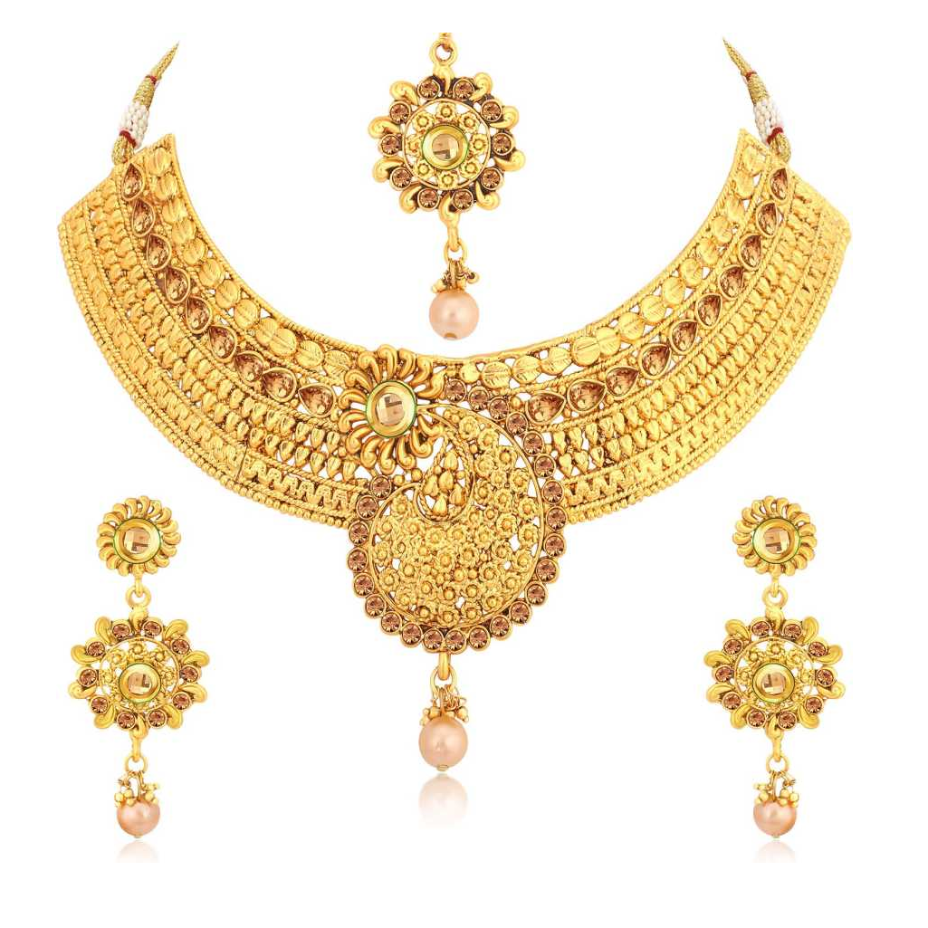 Alloy Jewel Set  (Gold, Bronze)