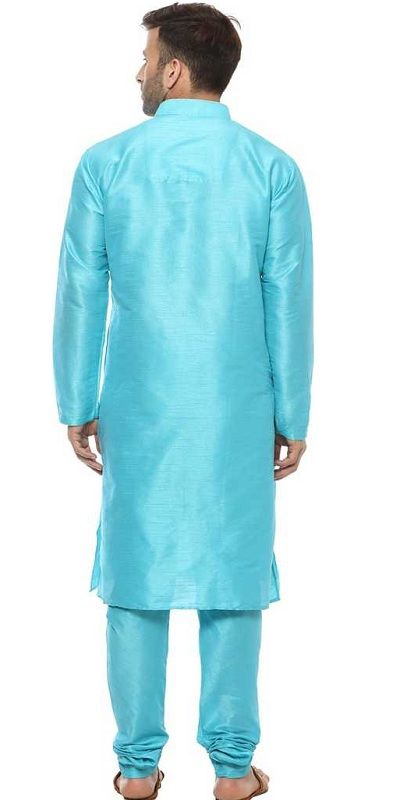 Men Kurta and Pyjama Set skyblue