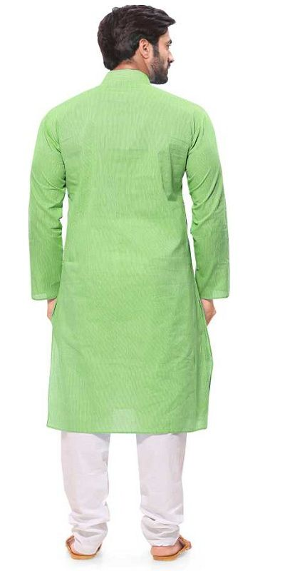 Men Kurta and Pyjama Set green