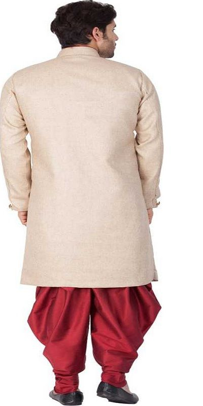 Men Kurta and Churidar Set creem