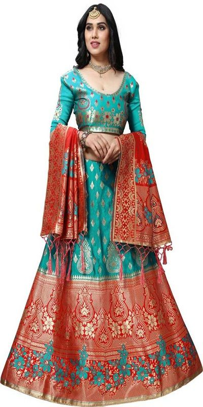 Self Design Semi Stitched Lehenga, Choli and Dupatta Set