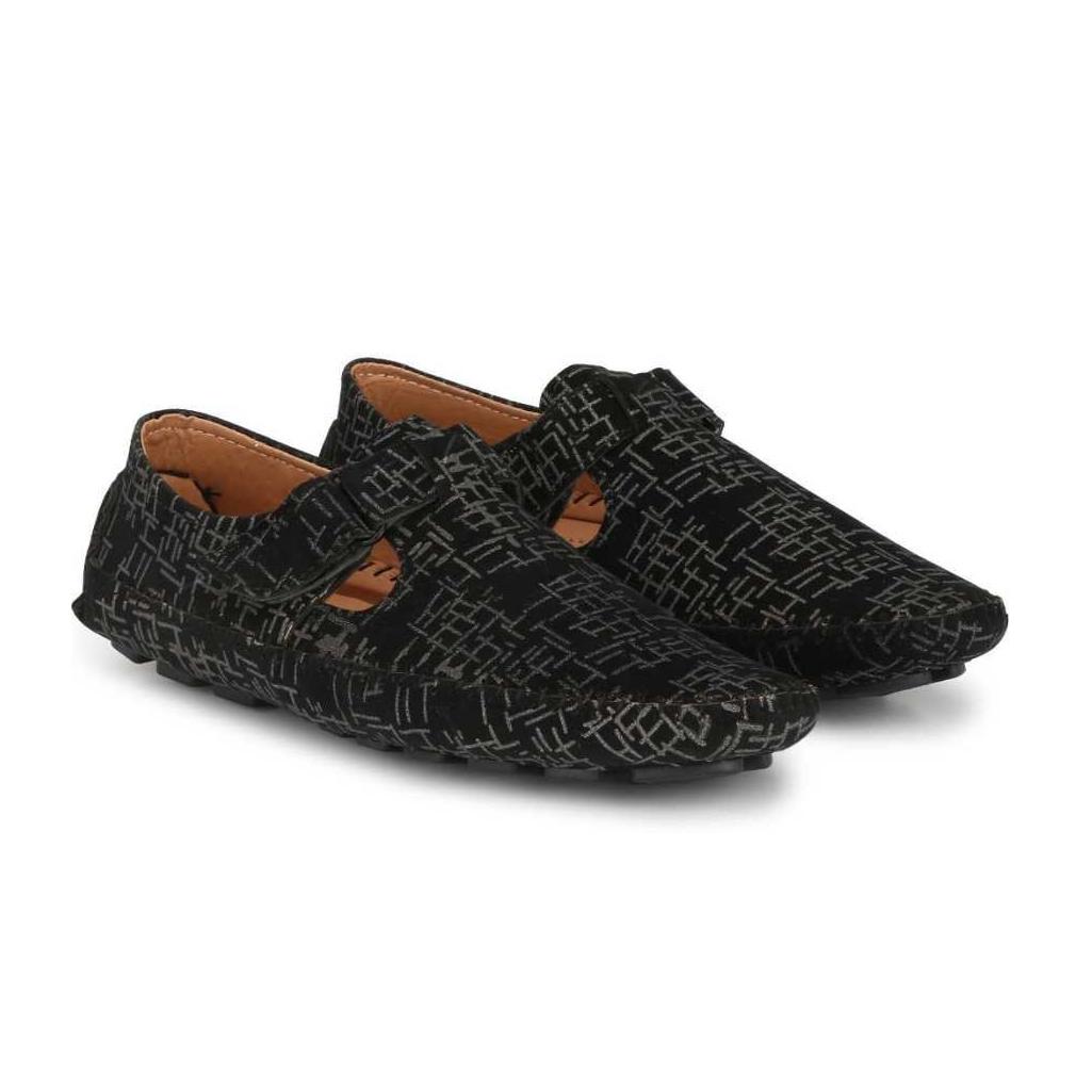 Men Black, Silver Casual Sandal