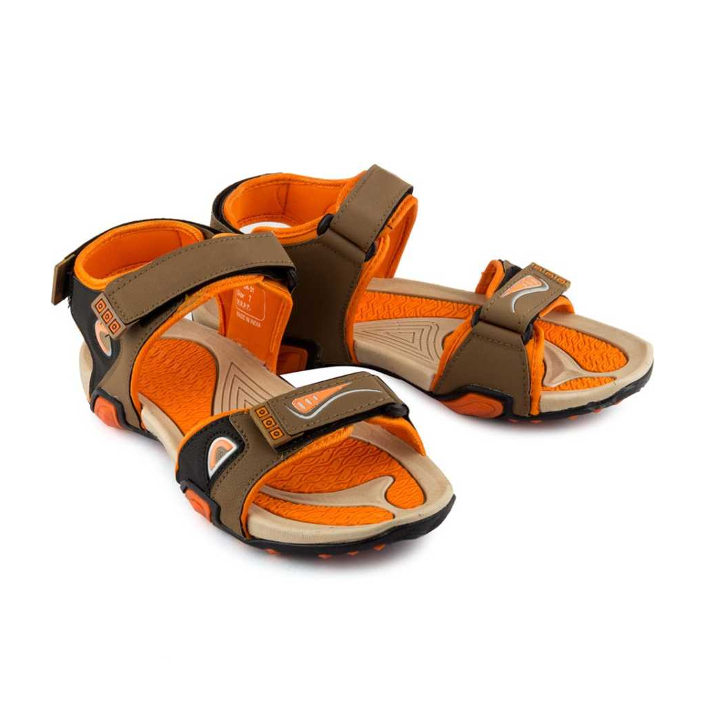 Men Brown Flats Sandal
