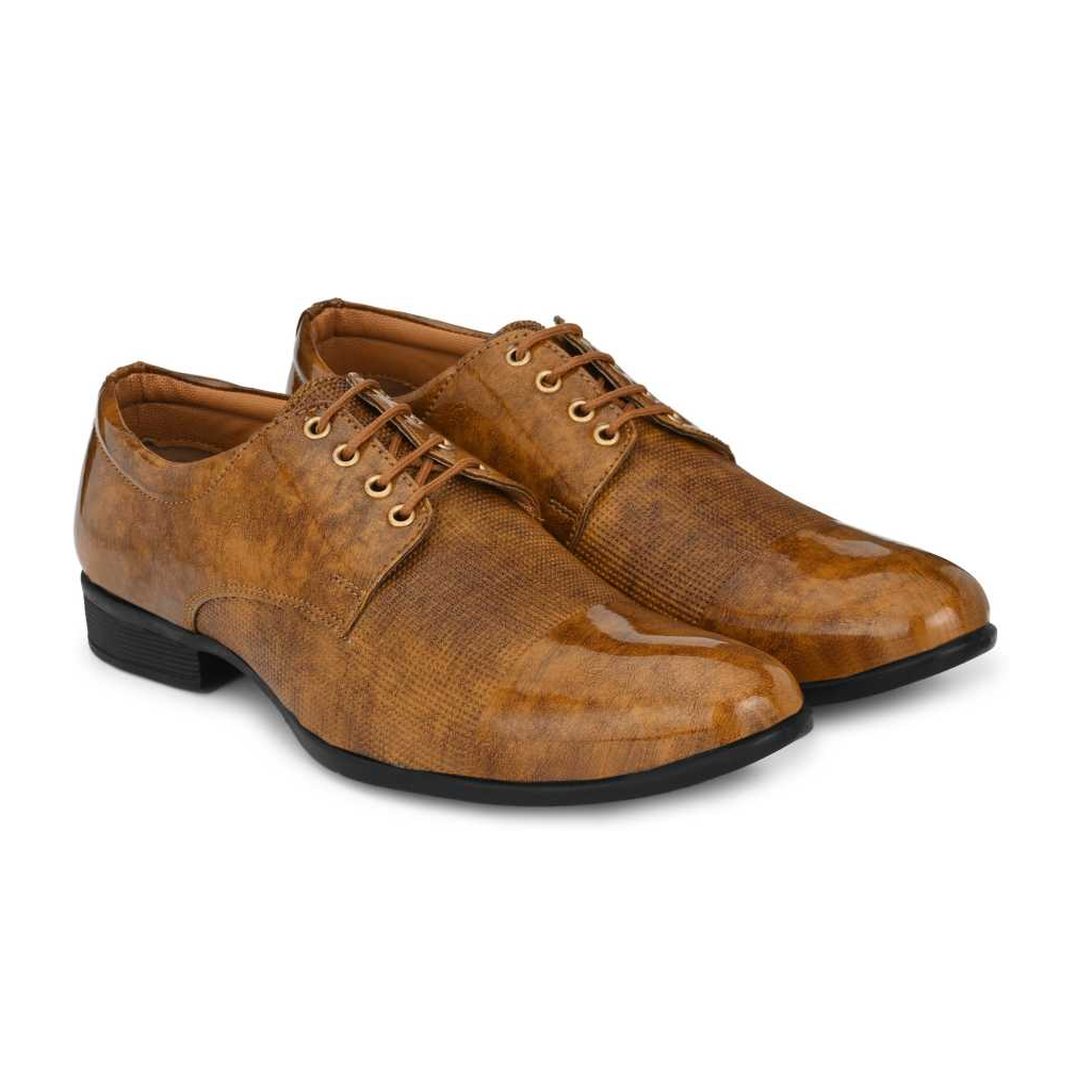 Lace Up Formal Shoes Lace Up For Men  (Beige)