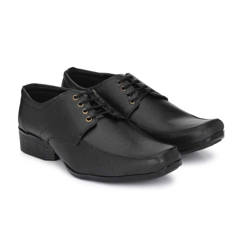 Trendy Classy Popular Premium Slip-on Royal Derby Lace Up For Men  (Black)
