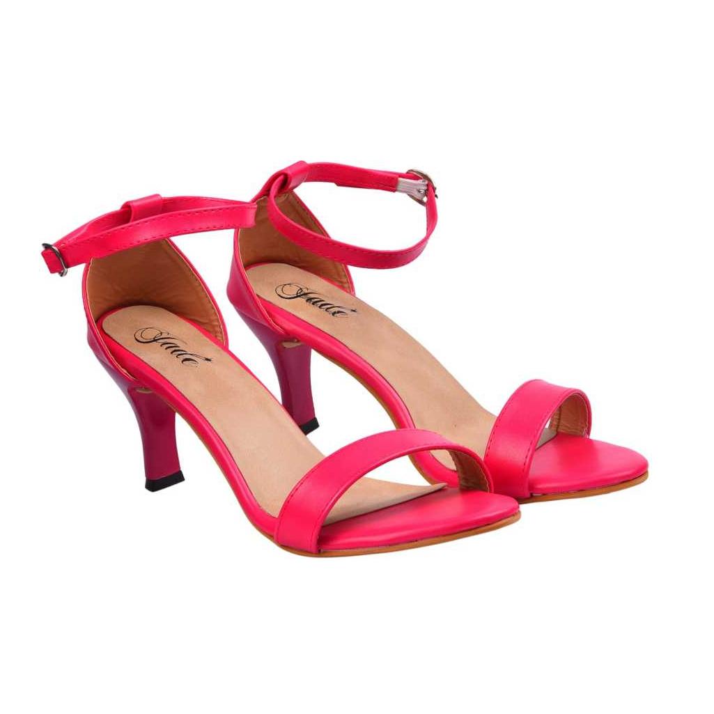 Women Pink, Beige Heels Sandal