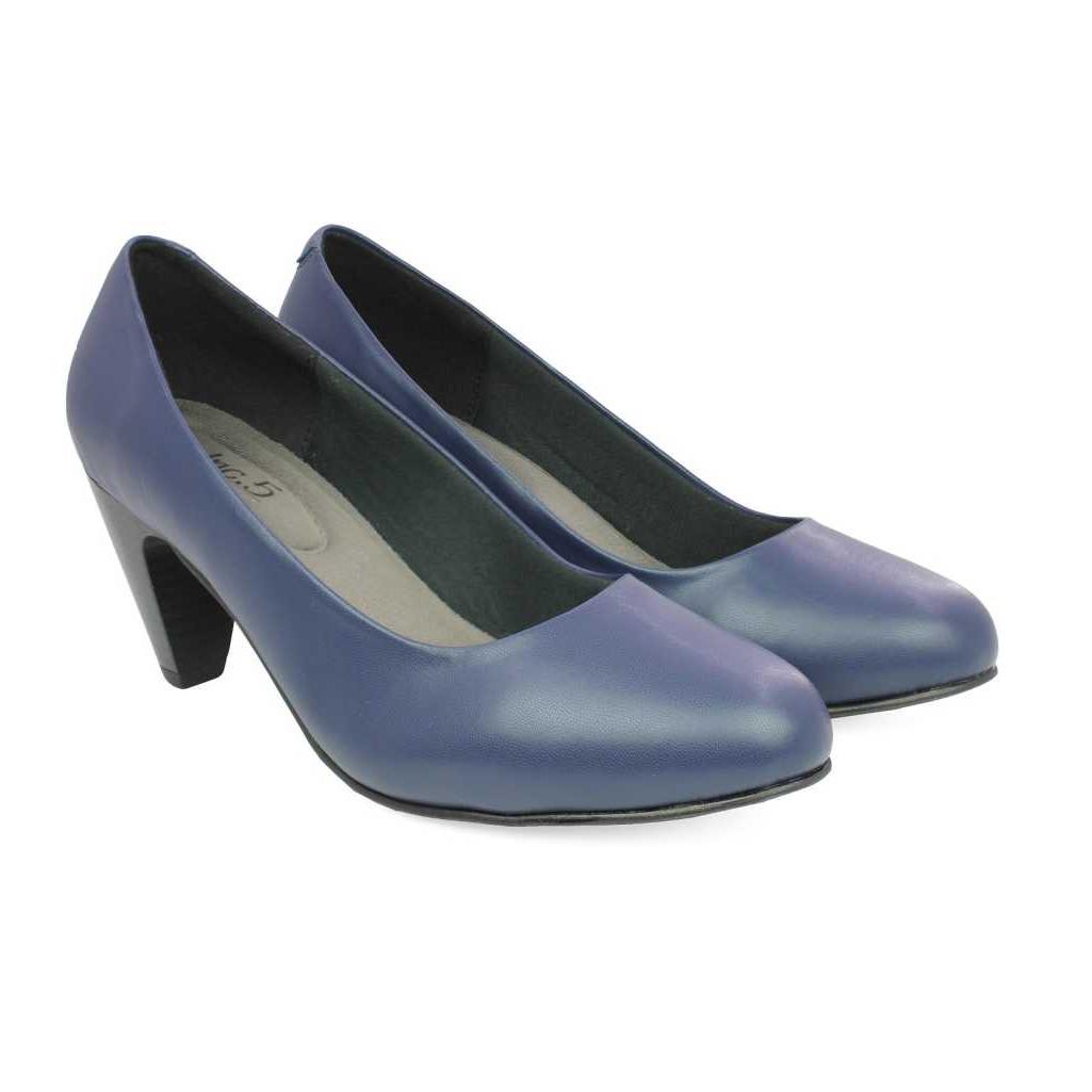 Women Navy Heels Sandal