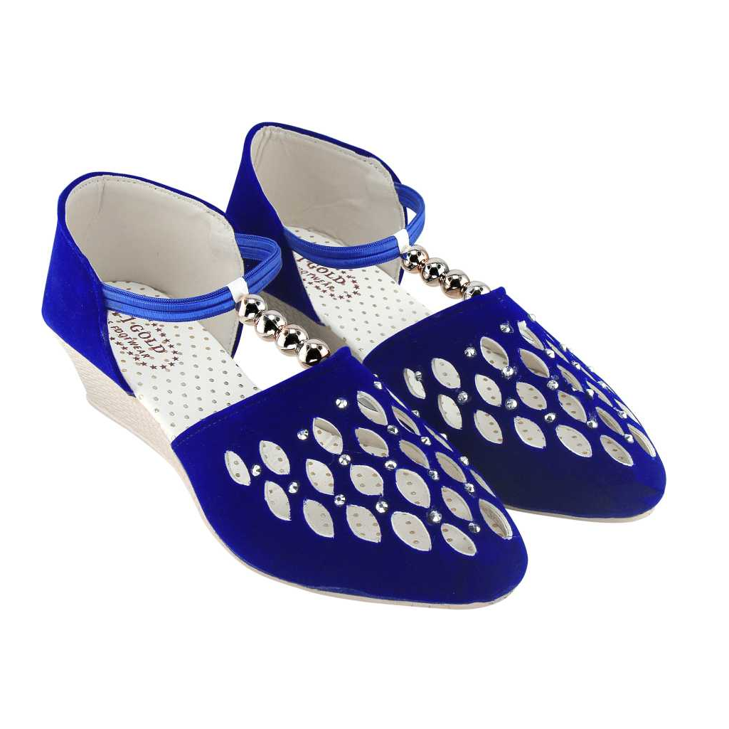 Women Blue Bellies Sandal