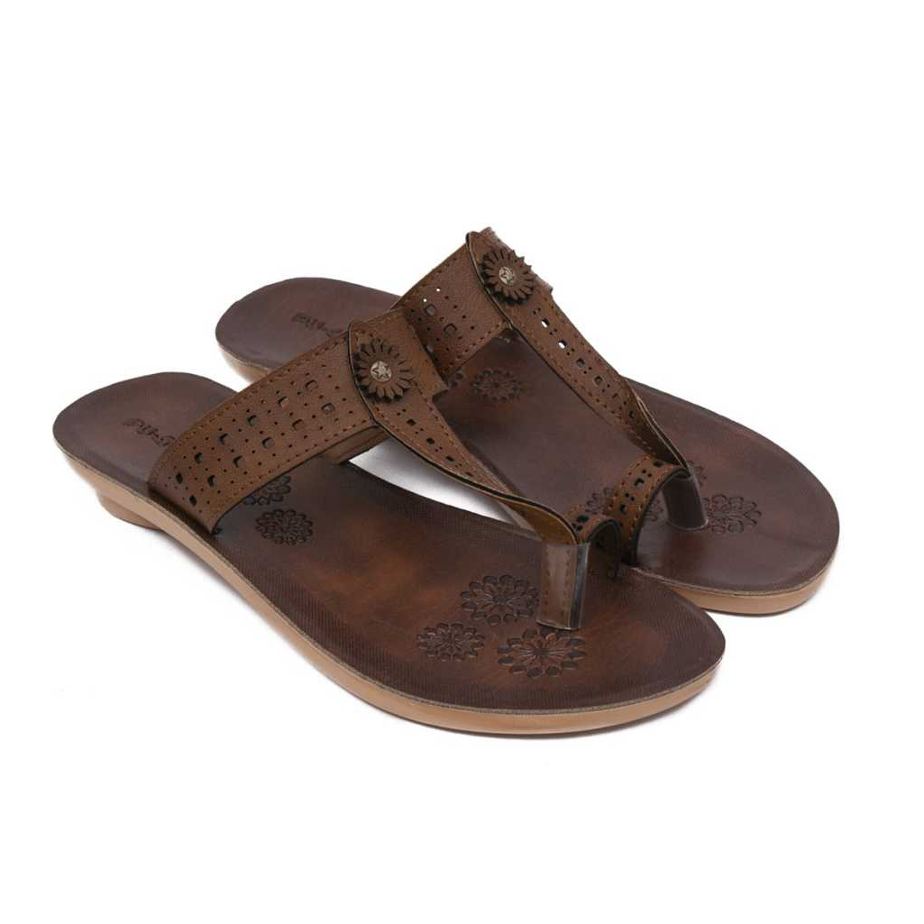 Women Brown, Brown Flats Sandal
