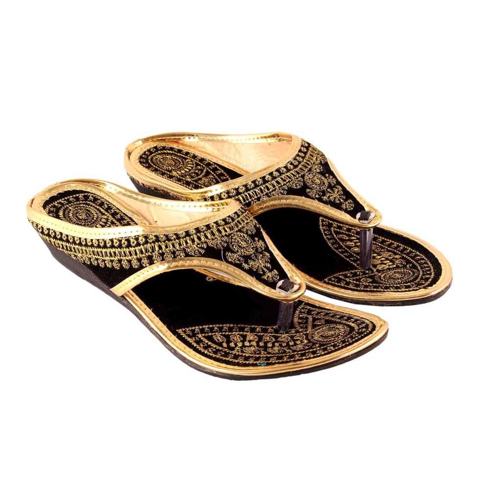Women Black Flats Sandal