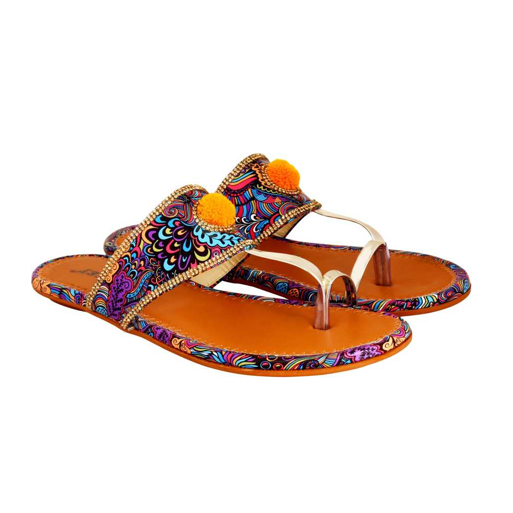 Women Multicolor Flats Sandal
