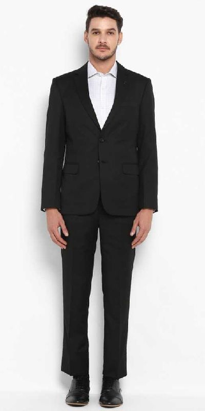 Mens Formal Suits Solid Men Suit black