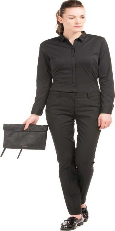 Relaxed Women Black Trousers