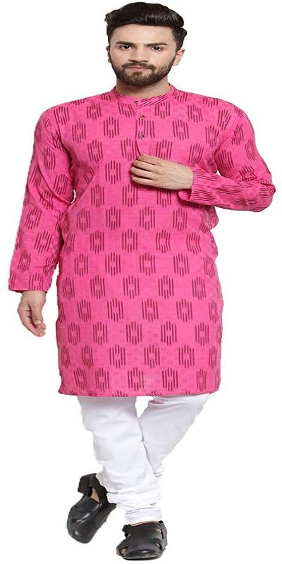 Jompers Mens Cotton Print Kurta and Pyjama