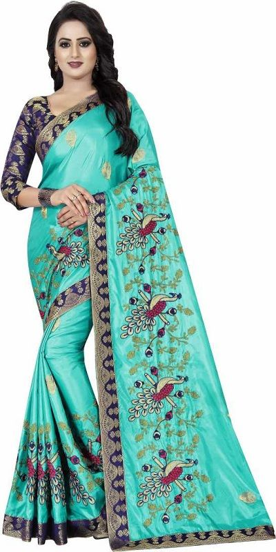 Embroidered Fashion Art Silk Saree