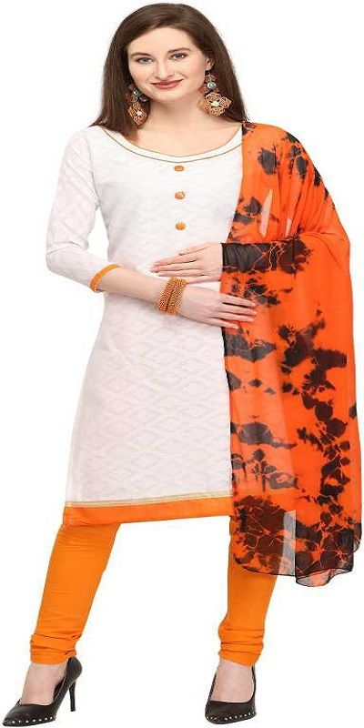 EthnicJunction Cotton Solid Salwar Suit Material  (Unstitched)