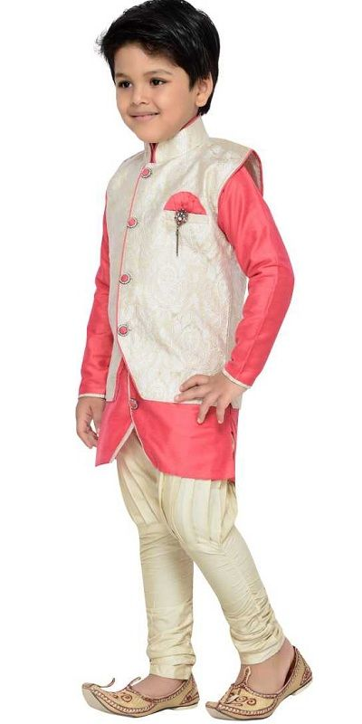 Boys Festive & Party Kurta pink