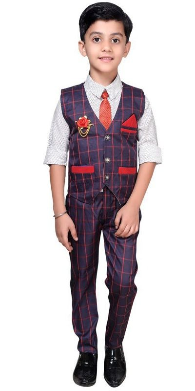 Children Ethnic Cotton Waistcoat