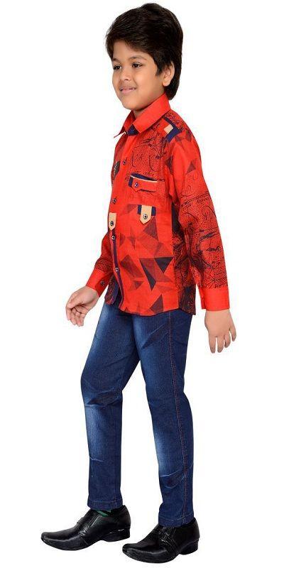 AJ Dezines Multicolor Cotton Shirt With Jeans boy dress