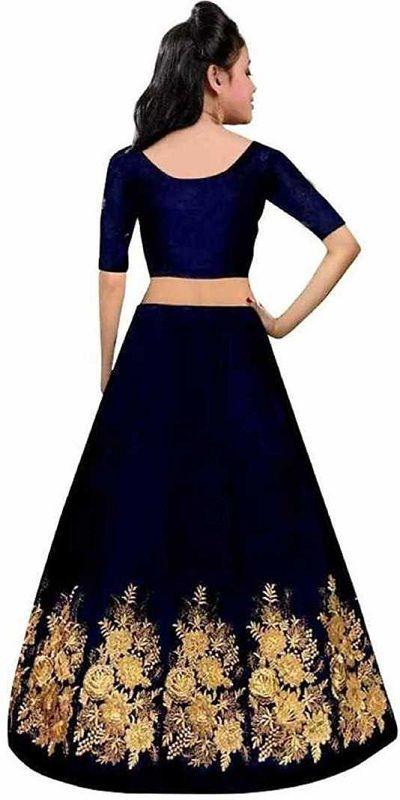 Girls Lehenga Choli Ethnic Wear Embroidered Ghagra, blue