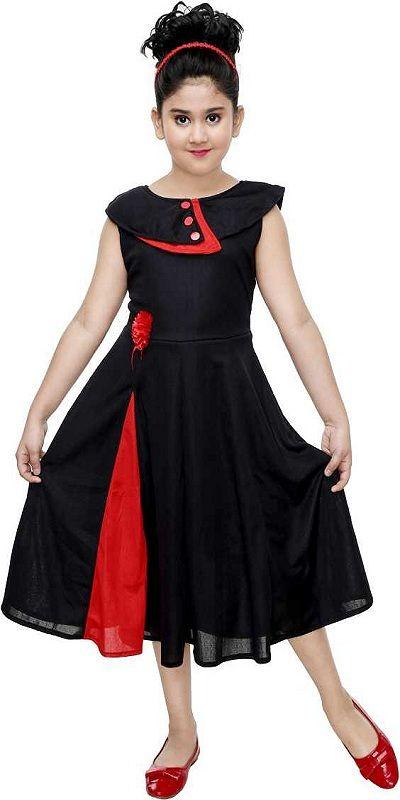 Girls Maxi/Full Length Festive/Wedding Dress black