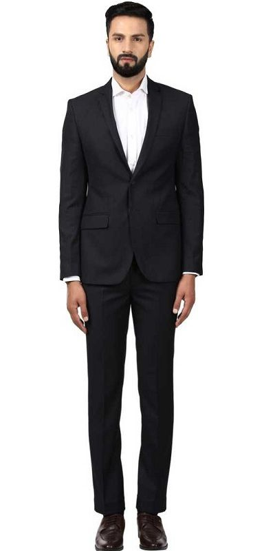 Suit Solid Men Suit black