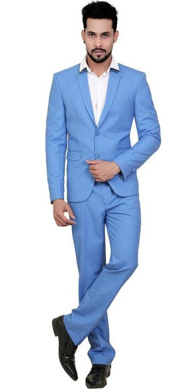 Blazers Trouser Solid Men Suit