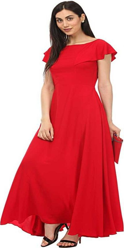 Women Maxi Red Dress