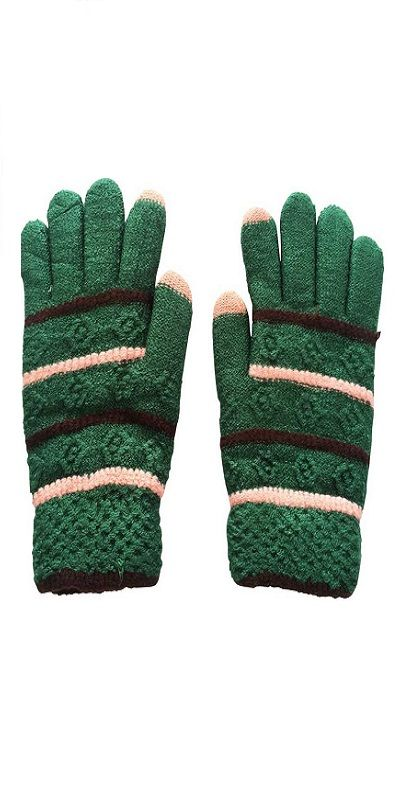Embroidered Winter Women Gloves
