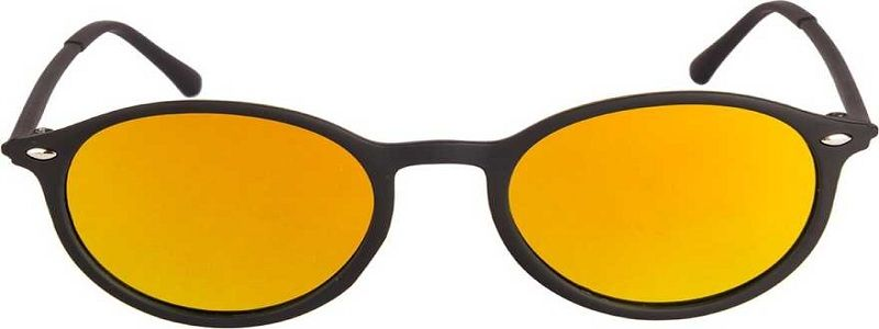 Mirrored Round Sunglasses (Free Size)  (Yellow, Golden)