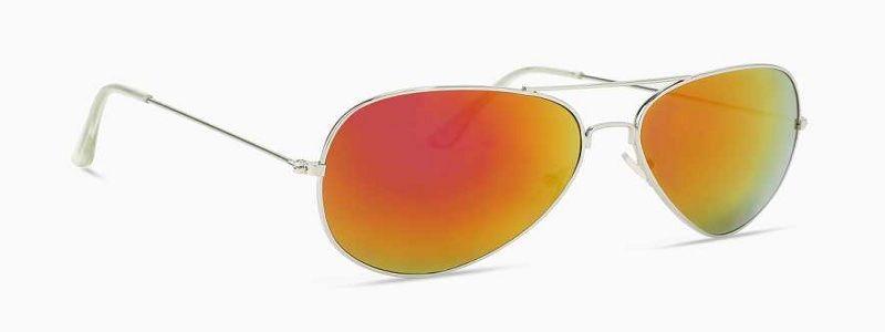 Mirrored Aviator Sunglasses (Free Size)  (Multicolor)