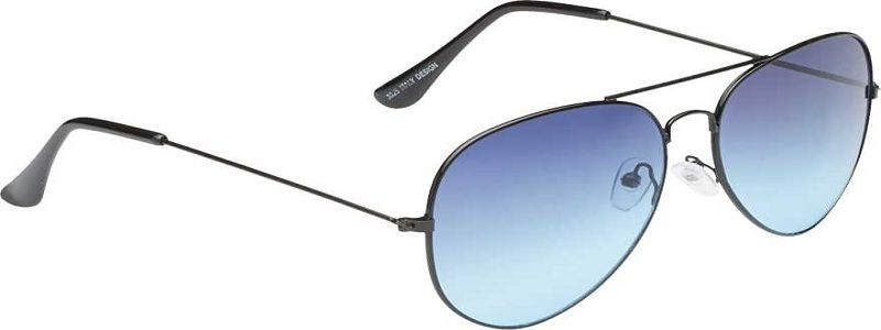 UV Protection Aviator Sunglasses (Free Size)  (Blue)