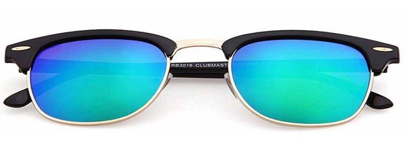 UV Protection Wayfarer Sunglasses (Free Size)  (Blue, Green)