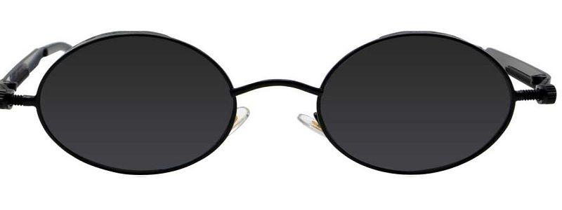 UV Protection Round Sunglasses (54)  (Black, Black)