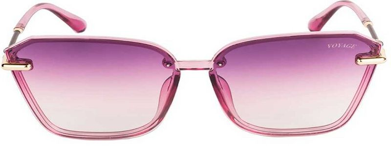 Gradient Retro Square Sunglasses (65)  (Pink)