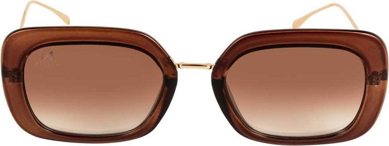 UV Protection, Gradient Over-sized, Retro Square Sunglasses (68)  (Brown, Clear)
