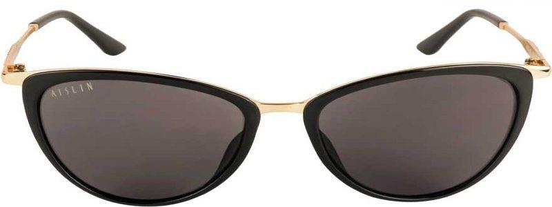 UV Protection Cat-eye Sunglasses (59)  (Black)