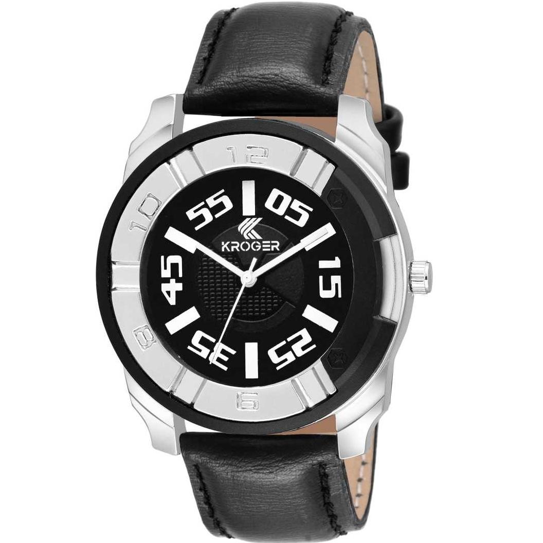 KRG1115 Crazy Black Analog Watch - For Men