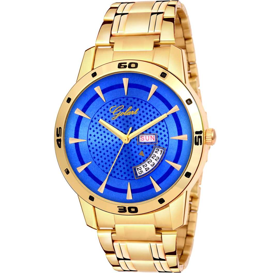 GT-M-GOLD BLUE 002 Analog Watch - For Men