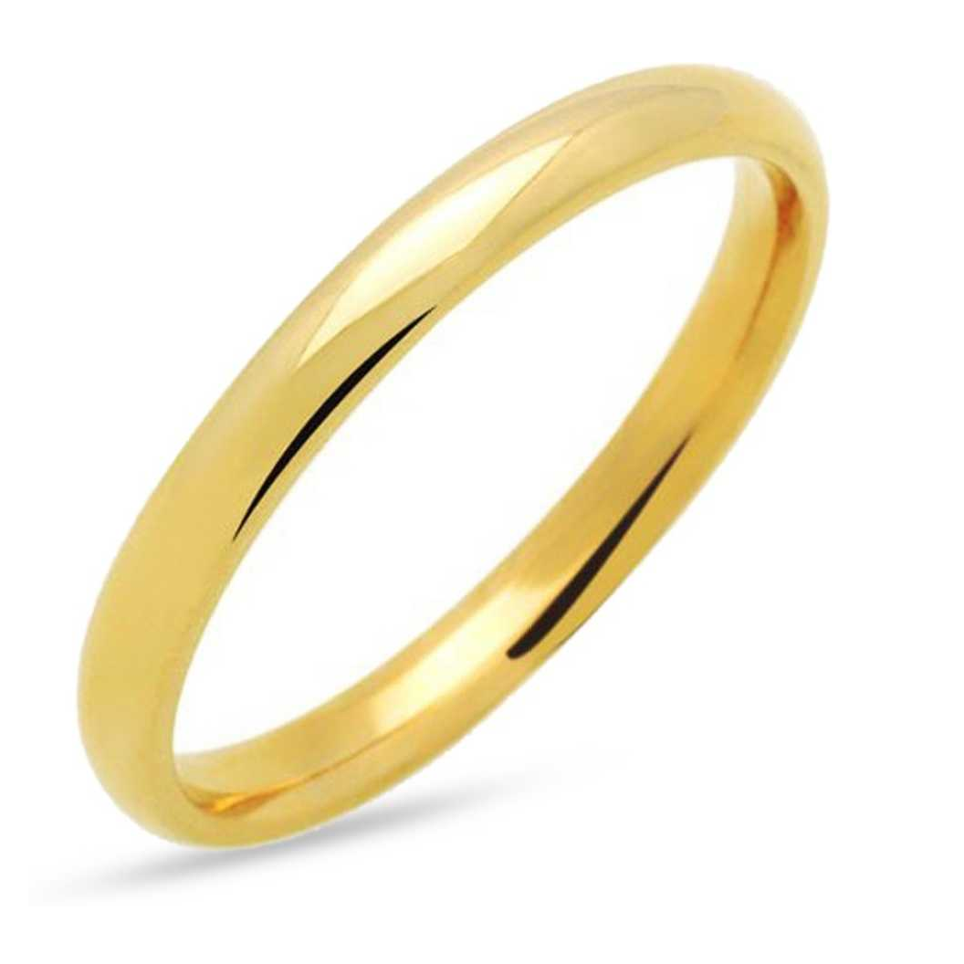 Plain band Brass Gold Plated Ring